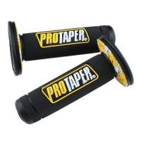 Ручки руля резиновые питбайк (пара) черные/желтые  PRO-TAPER