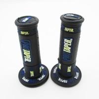 Ручки руля резиновые питбайк (пара) черные/синие  PRO-TAPER