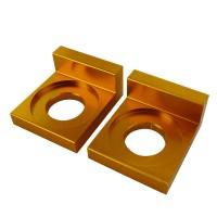 Кронштейн натяжителя цепи привода (пара) - питбайк, желтые