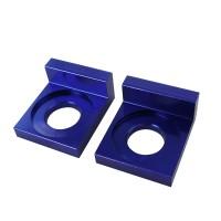Кронштейн натяжителя цепи привода (пара) - питбайк, синие