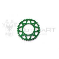 Звезда ведомая аллюминиевая питбайк 420-39T зеленая  SM-PARTS