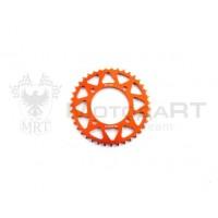 Звезда ведомая аллюминиевая питбайк 420-39T оранжевая  SM-PARTS