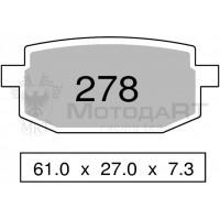 Колодки дискового тормоза Trofeo Organic 278  (LMP219) - S17